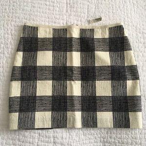 NWT Madewell Plaid Skirt